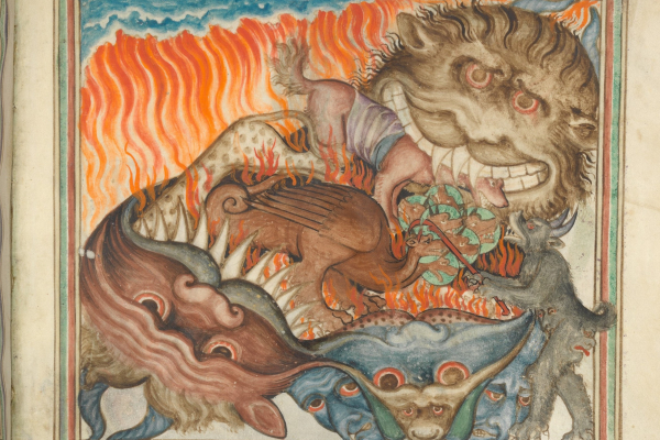 A possible illustration of Hell, The Cloisters Apocalypse, at the Metropolitan Museum of Art.