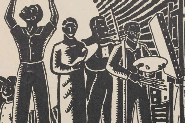 Detail of Black Artists, Writers, and Musicians from a print by Lois Mailou Jones