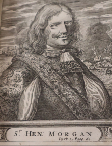 Copperplate engraving of Henry Morgan