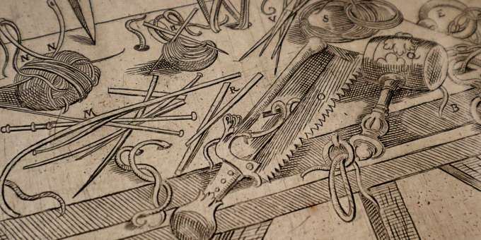 Surgical instruments described in the final section of the Epitome