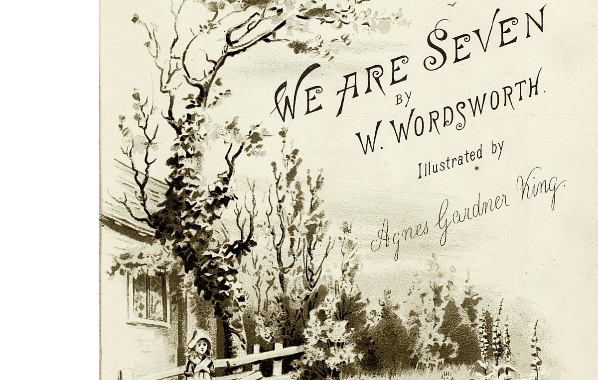 "Lithographed Cover of ""We are Seven"""